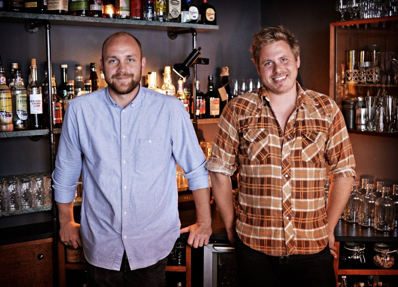 Kasper Riewe Henriksen and Rasmus Poulsgaard from Duck and Cover - one of the best cocktail bars in Copenhagen