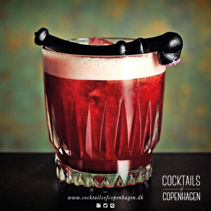 Erik the Red, signature cocktail for the Brittingham Viking Organization, photo by Alexander Banck Petersen - photographer for Cocktails of Copenhagen