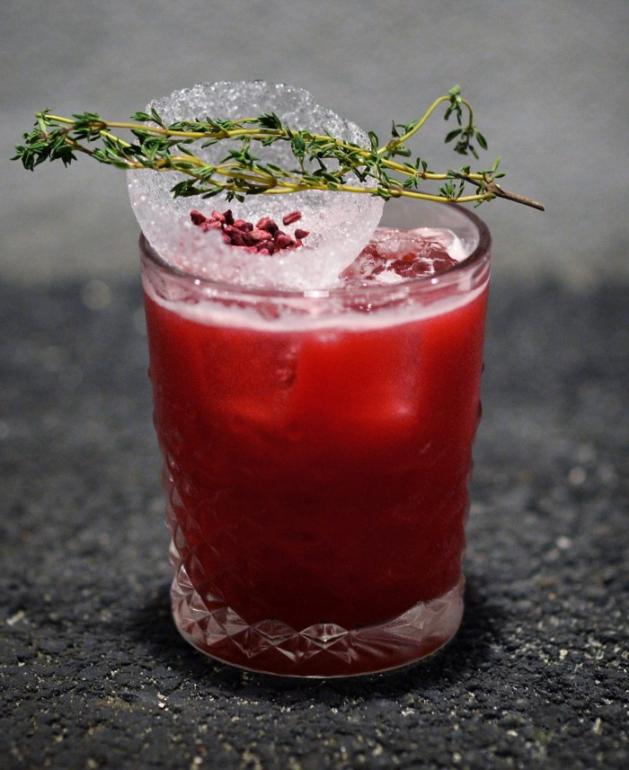 Business Thyme by Ted Dako. Can be found on the menu at Bar 25 - one of the best cocktail bars in Copenhagen.
