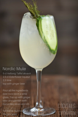 Nordic Mule recipe. An exceptional aquavit cocktail.