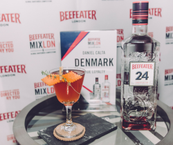 Winning cocktail by Daniel Calta at the Danish finals for Beefeater Mixldn 6 in Copenhagen.