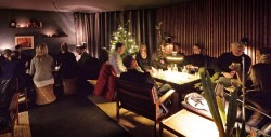 Christmas in the contemporary bar