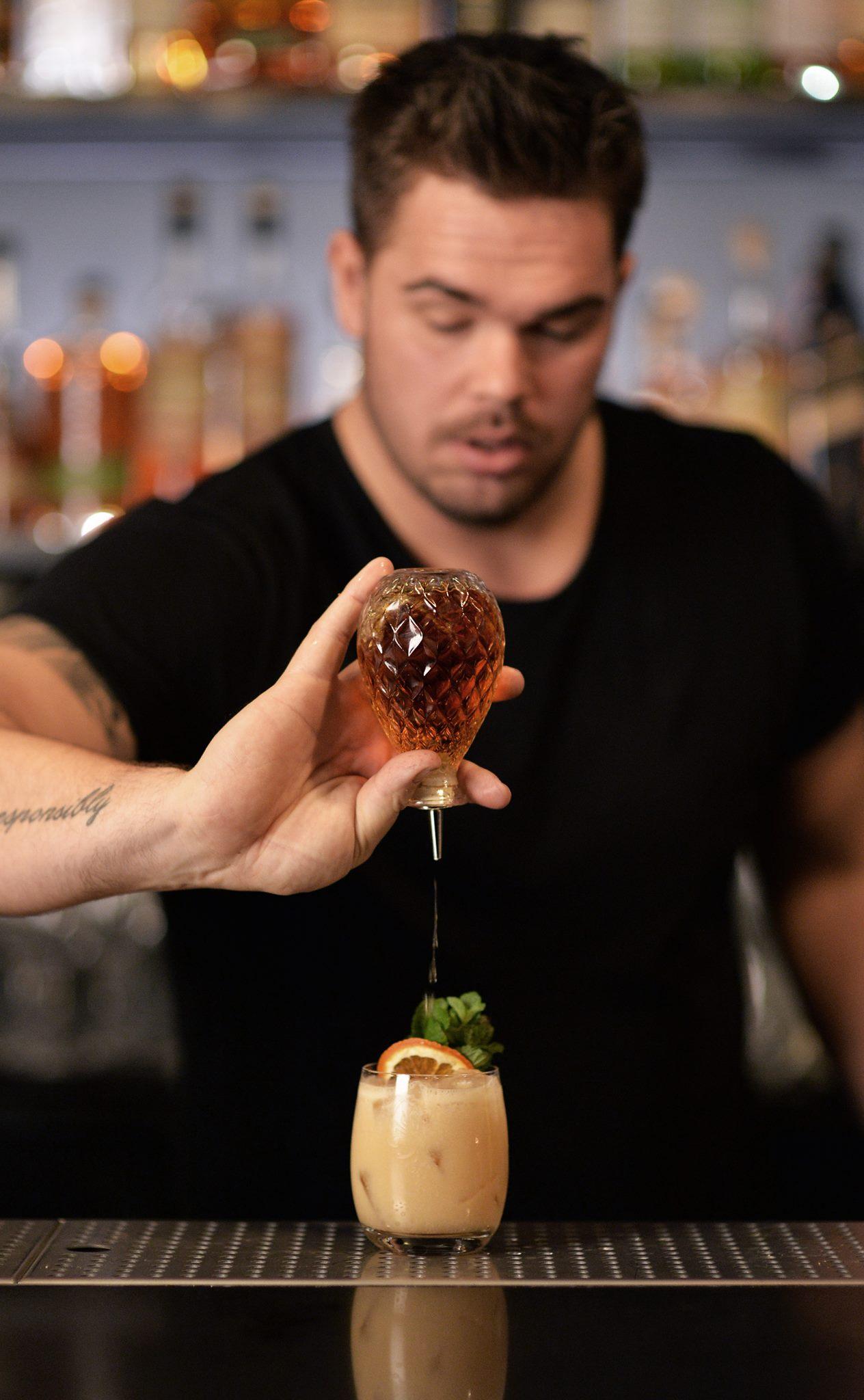 Nicklas Jørgensen from Helium cocktail bar in Copenhagen. Photo by Alexander Banck-Petersen.