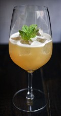 Old French - a cognac twist on the Old Cuban cokctail by Erwan Lebonniec from Kester Thomas.