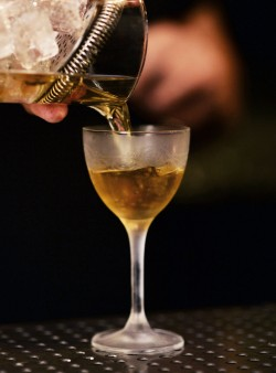 Barred aged Vesper Martini from Helium