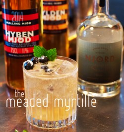The Meaded Myrtille - mead cocktails with Malling Mjød