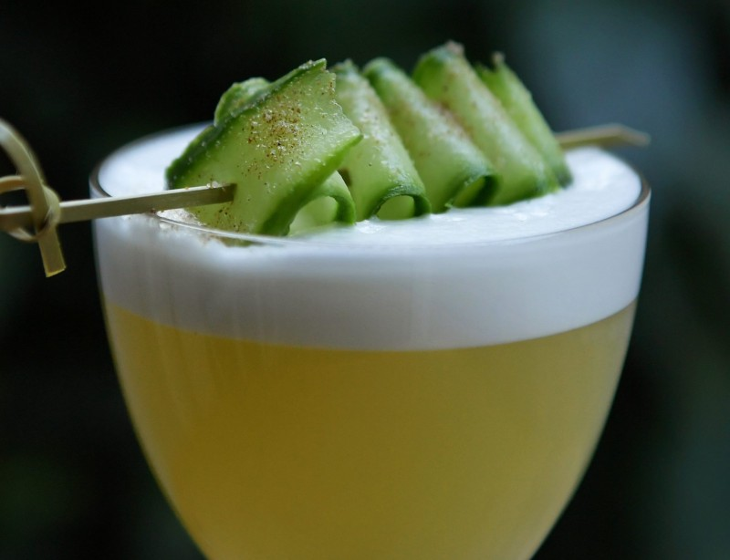 Dansk Forår - non-alcoholic Seedlip based cocktail from Kester Thomas