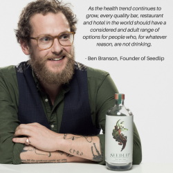 Ben Branson, creator of the non-alcoholic spirit Seedlip