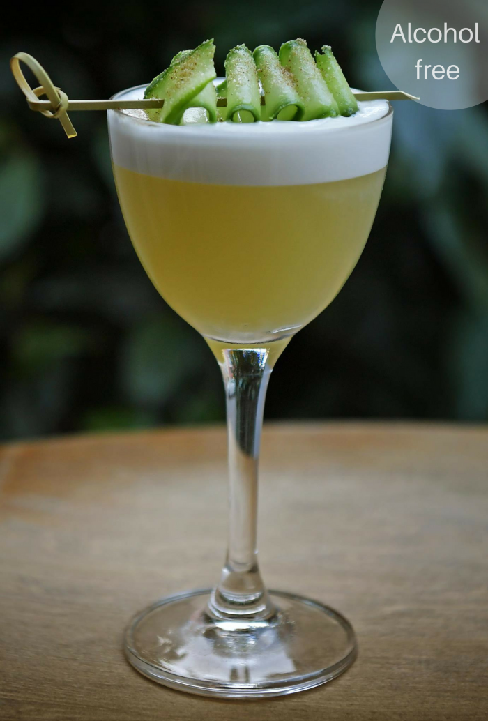Dansk Forår - alcohol free Seedlip based cocktail from Kester Thomas