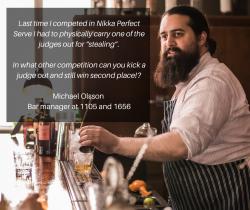 Michael Olsson on Nikka Perfect Serve