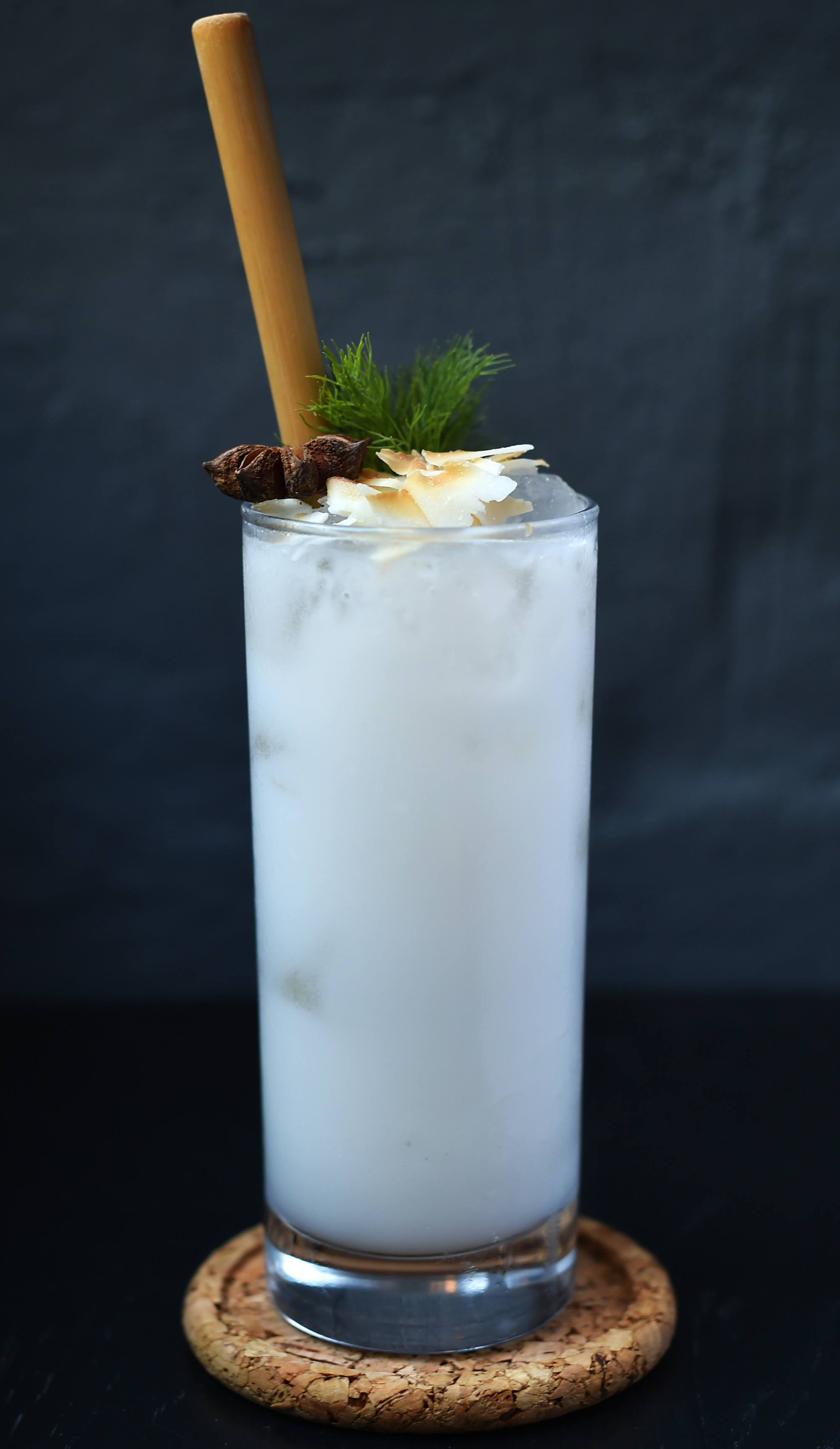 Ama'r Colada - a spin on a classic based on dill aquavit
