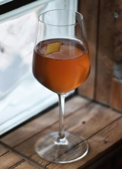 Dynastea - mezcal and tea based cocktail from GILT in Copenhagen