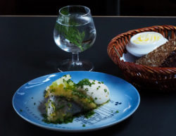 Nordic Green Martini and herring