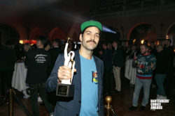Max Scott wins prize for most noticable industry improver in Copenhagen. Photo by Carl Lemon.