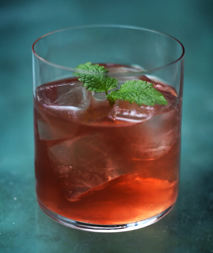 Antonio Negri - non alcoholic Negroni from Kyros & Co